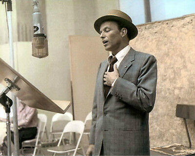 """FRANK SINATRA HOLLYWOOD LEGEND ACTOR SINGER 8x10"""" HAND COLOR TINTED PHOTOGRAPH"""