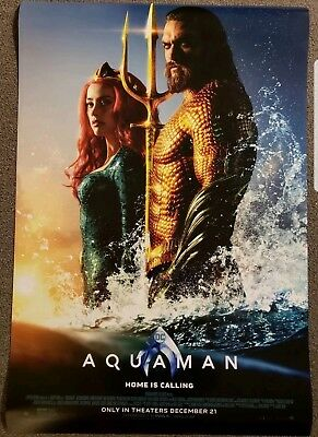 Aquaman 27x40 DS Movie Theater Poster Final DC Jason Mamoa! NEW! ORIGINAL!