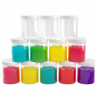 Slime Containers with Airtight Lids (6 oz, 12 Pack)