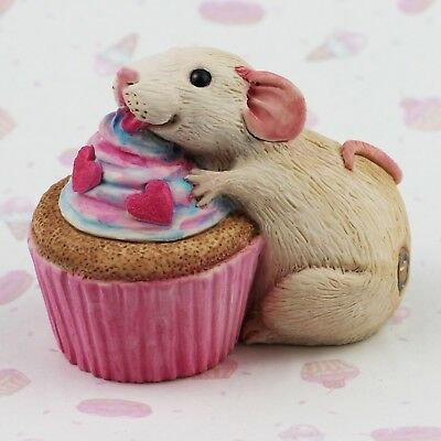 Pet Rat Figurine or Ornament - CUPCAKE by Forever Home Studios.