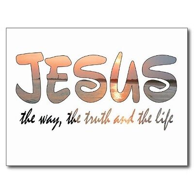 "+~Post Card~""JESUS""--""The Way, the Truth, and the Life"" (V-29)"