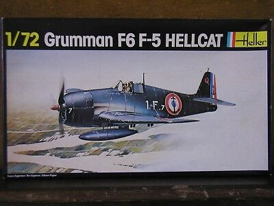 1/72 Heller GRUMMAN F6F-5 HELLCAT vintage 1980 kit French Navy Sealed OOP