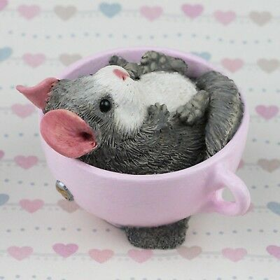 Chinchilla Figurine/Ornament - DUSTY by Forever Home Studios.