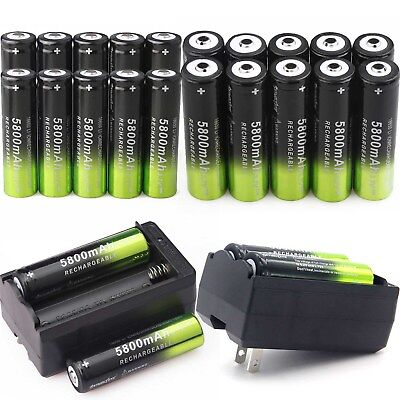 SKYWOLFEYE 18650 Battery Charger Li-ion 3.7 V 5800mAh Rechargeable For Torch OL