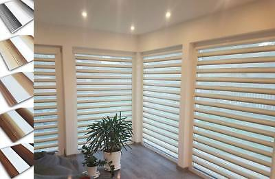 Made To Measure Ombre Day and Night Cassette Zebra Vision Window Roller Blinds