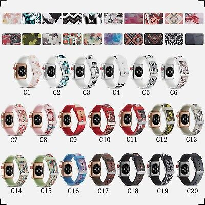 Replacement Silicone Wrist Sport Band Strap For Apple iWatch Series 4  38mm/44mm