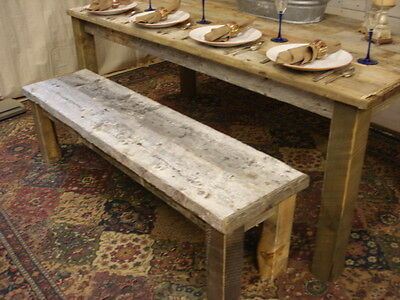 """Bench, driftwood Bench, (48""""x 13"""" x 16"""" high) (Pictured is 60"""" x 15""""x16""""H)"""