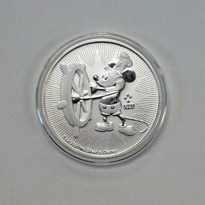 2017 NIUE Steamboat Willie Mickey Mouse Disney Coin 1 Oz .999 Silver
