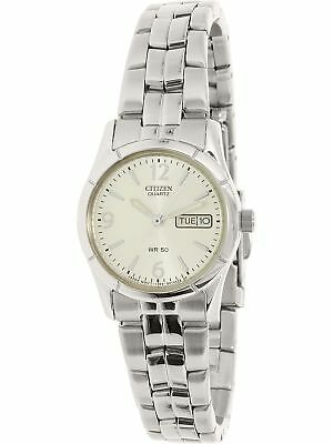Citizen Women's EQ0540-57A Silver Stainless-Steel Plated Japanese Quartz Fash...