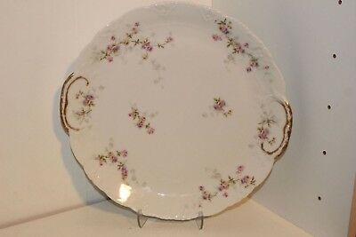 "Vintage Theodore Haviland Limoges France Handled Round 11.5"" Serving Platter"