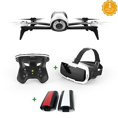 Parrot Bebop 2 FPV Drone Kit+ Extra Battery Double Flight Time Up To 50 Min