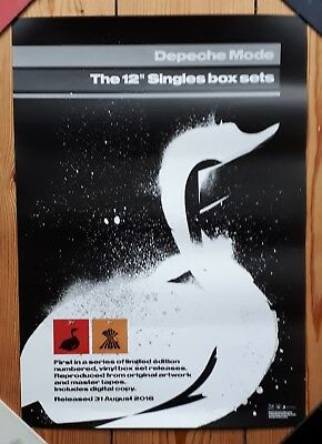 """Depeche Mode The 12"""" Singles Box  Official Promo Poster Mute"""