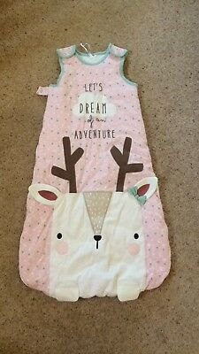 c34fa32856c Tu Girls Sleeping Bag 12-18 Months 2.5 Tog Worn Once Immaculate Condition  Pink