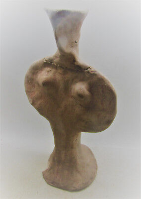 Scarce Ancient Mycenaean Terracotta 'psi' Idol. 1600-1100Bce