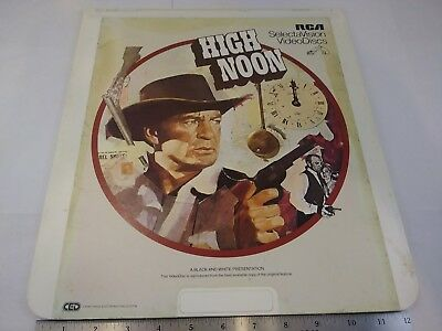 Vintage High Noon Gary Cooper CED Video Diac By RCA