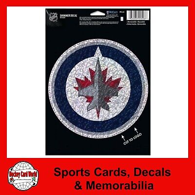 """(HCW) Winnipeg Jets Holographic Shimmer 5""""x7"""" NHL Perfect Cut Sticker Decal"""