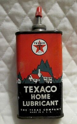 Vintage Texaco 4 Oz Lead Top Home Lubricant Oiler Oil Can Advertising