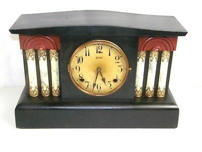 Antique Gilbert Clock Co. 8 Day Time & Strike Mantle or Shelf Clock To restore