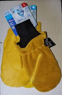 NEW Insulated Lined Leather Chopper Mittens by West Chester 97861/L XL