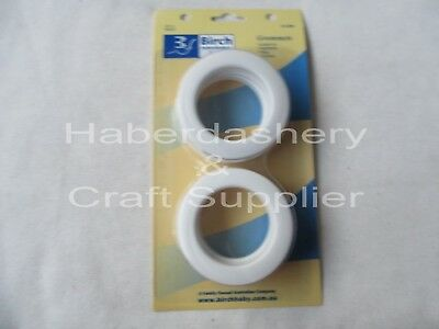 Birch Eyelet Grommets 4 White Pack For Garment, Curtains & Bags*End Of Line*