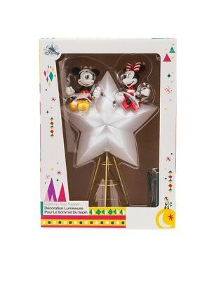 *NEW 2018 Disney Store Mickey & Minnie Mouse Light Up Star Christmas Tree Topper