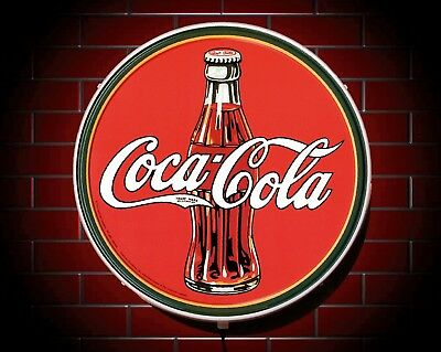Coca Cola Led Retro Style Shop Sign Picture Bar Pub Cafe Usa Advertising Logo