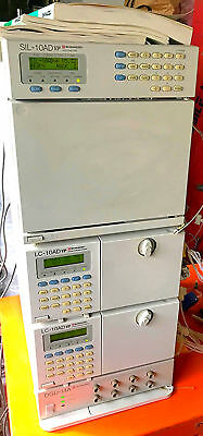 SHIMATZU DGU-14A SIL-10AD vp LC-10AD VP  LAB HPLC GAS CHROMATOGRAPH WATCH VIDEO