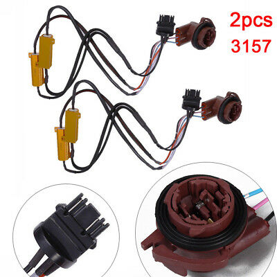 2X 3157 50W Pre-wired Load Resistor Fix Hyper Flash For LED Turn Signal Light
