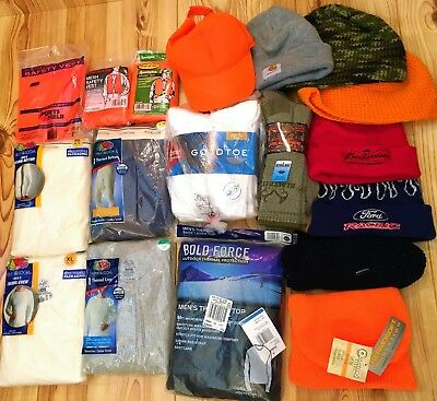 Mens Hunting & Winter Clothes Lot Numerous Various Items New & Used Nascar Ford