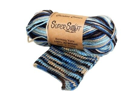 Bulk 14 Super Soft 8 Ply Knitting Yarn Wool 100G 100% Acrylic Nautical