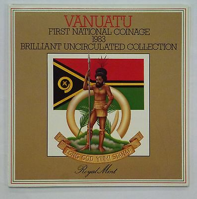 1983 VANUTAU First National Coinage BU Collection Royal Mint