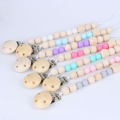 KD_ Baby Girls Boys Pacifier Clip Chain Strap Dummy Soother Nipple Holder Exqu