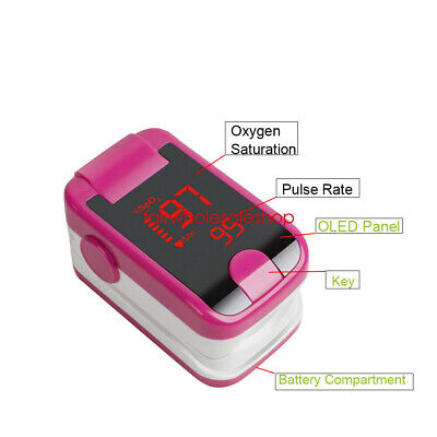 CE FDA SpO2 PR Finger tip Pulse Oximeter Blood Oxygen Heart Rate Monitor Lanyard