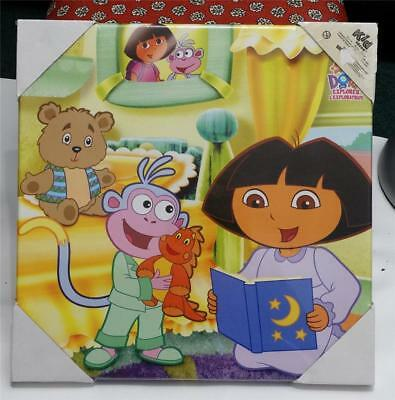 New 2007 Dora the Explorer 15 x15 Canvas Wall Art Hanging Collectible