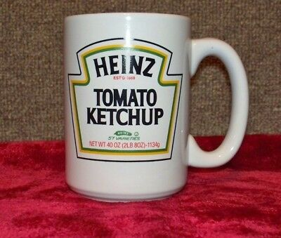 1 Heinz Tomato Ketchup Mug Cup, Holds Approx. 2 Cups, White In Color