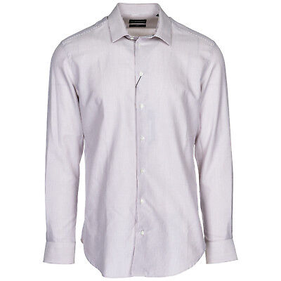 a007bb4d9c7 Emporio Armani Chemise À Manches Longues Homme Neuf Slim Fit Blanc A6F