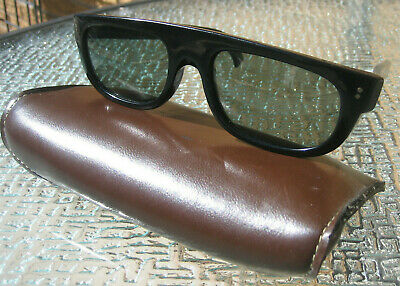 41b08ba68749 VTG 60S COOL RAY CARI MICHELLE POLAROID SUNGLASSES USA Black blues risky  retro