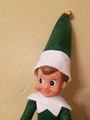 Green Boy Christmas Elf New In Plastic Packaging (No Box) Free Shipping