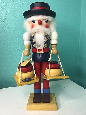 Artisan Nutcracker Cheese Maker Wooden Hat Mouse 11""