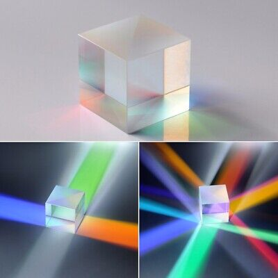 Defective X-Cube Prism Combiner Splitter Cross Dichroic Prism Optical Glass New