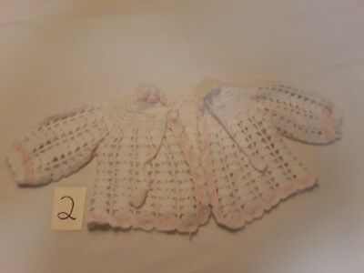 Vintage Baby / Infant Hand Made Knit/crochet Sweater