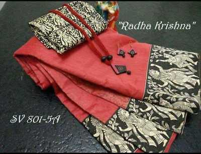 Cotton Sari Saree Free Shipping With Blouse Indian Designer Saree Wedding Wear