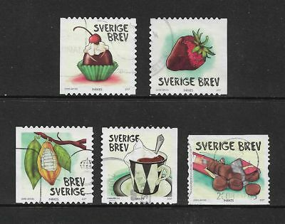 SWEDEN 2007 Chocolate, No.1, set of 4 + 1, used