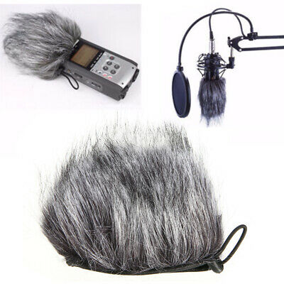 Fur Wind Noise Microphone Mic Muff Windshield Cover For H2N H4N Recorder Zoom