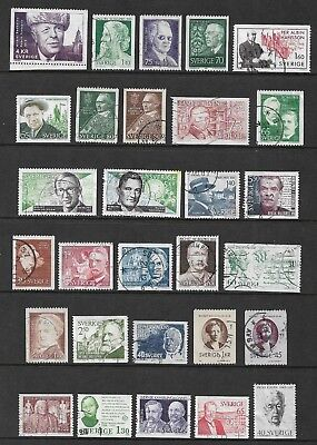SWEDEN mixed collection No.29, Famous People, used