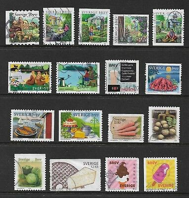SWEDEN mixed collection No.35, 2004-2011 Food & Gardens, used