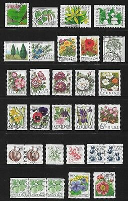 SWEDEN mixed collection No.34, Flowers & Plants, used