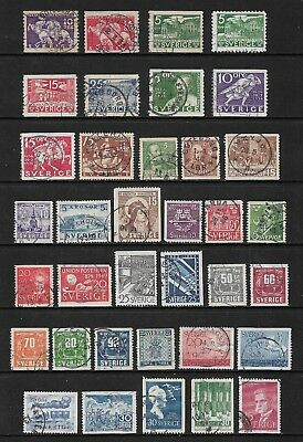 SWEDEN mixed collection No.30, 1932-1960, incl postmarks, cancels, used