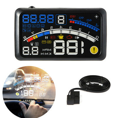 5.5'' Universal OBD2 OBDII Car HUD Head Up Display Overspeed Warning System CHH