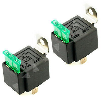 12V 4 Pin 30A 2VoltN Fused Relay With Bracket 12 Volt Normally Open On/Off - 2